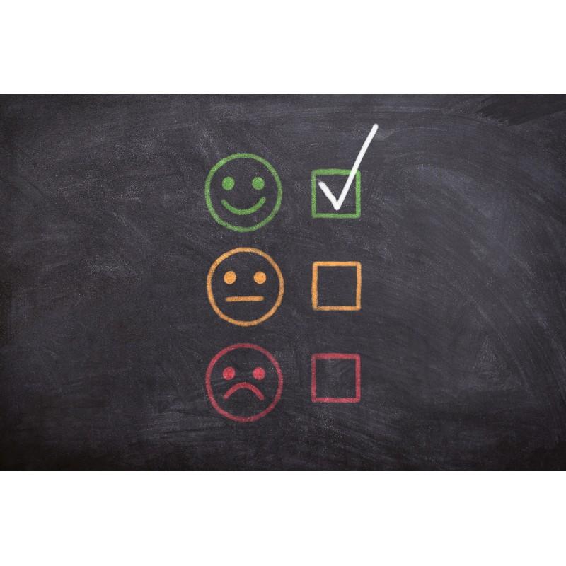 smiley microentrepreneur heureux