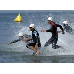 course en mer : départ de triathlon