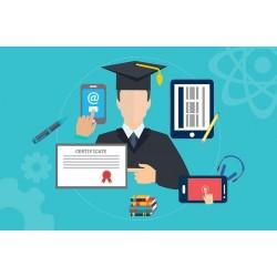 certification obtenue en ligne, à distance, via les outils numériques