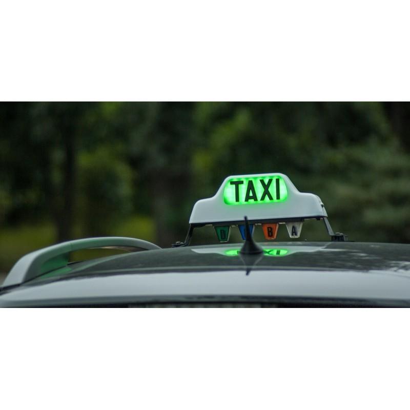 Enseigne sur voiture de taxi