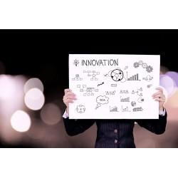 pancarte, dessins, innovation, globe