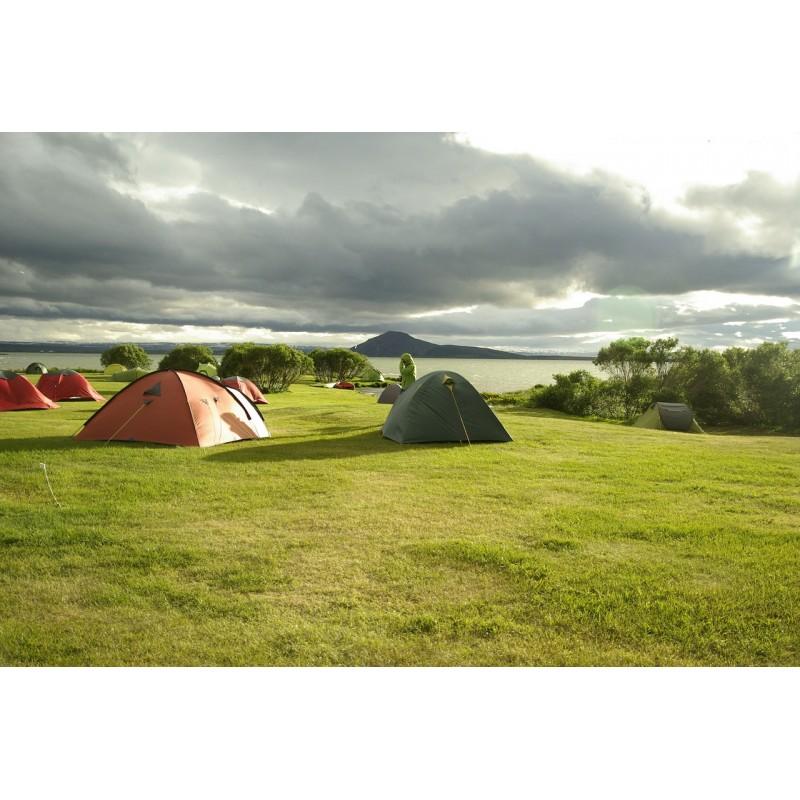 Tentes de camping en Islande