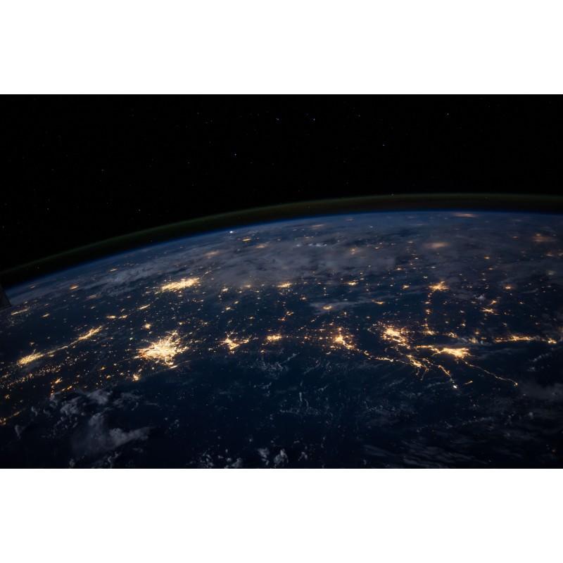 la courbure de la terre vu de l\'espace