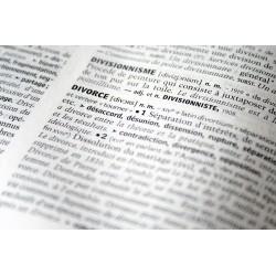 Définition du mot divorce dans un dictionnaire