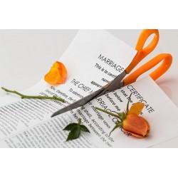Certificat de mariage découpé
