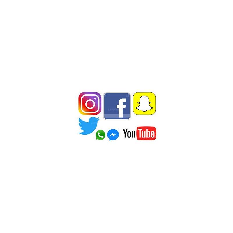 Facebook, Twitter, Whatsapp...