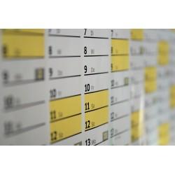 Un calendrier bancaire
