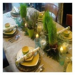 Une décoration de table végétale