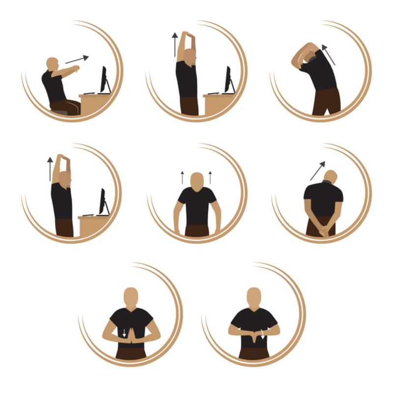 image vectorielle postures d'étirements